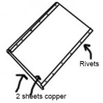 riveting-thin-copper-sheets-together